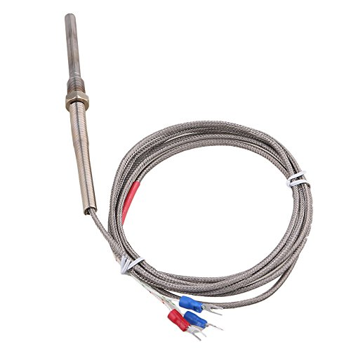 BQLZR étanche en acier inoxydable PT100thermocouple contrôle de la température Sonde G1/8Filetage 1.7metre de long câble -45à 420degrés