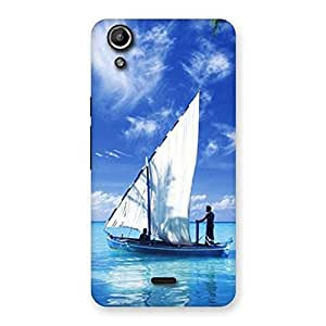 Special Boat Guy Back Case Cover for Micromax Canvas Selfie Lens Q345