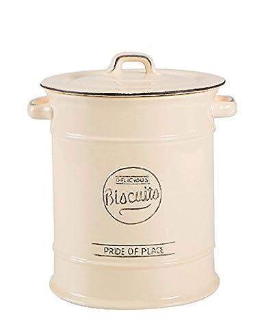 Pride of Place Vintage Ceramic Tableware Lidded Biscuit Barrell