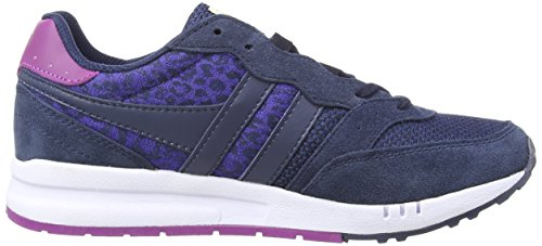 Gola - Samurai Leopard, Sneakers da donna Blu (Navy/Blue/Navy)