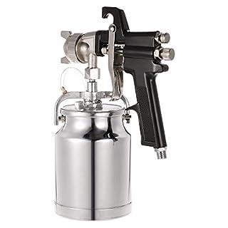 KKmoon Spray Paint Gun with High Pressure Titan Cup Maxium II HVLP Turbine Siphon Feed 1.8mm Nozzle 1000cc for Car Furniture Wall Painting