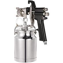KKmoon Alta Pressione Titan Cup Maxium II HVLP a Turbina a Sifone di Alimentazione della Vernice Pistola a Spruzzo 1000cc 1,8mm Ugello