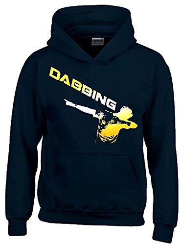 DABBING ! Kinder HOODIE Sweatshirt mit Kapuze schwarz-gold, Gr.140cm (Klasse Hoodie)