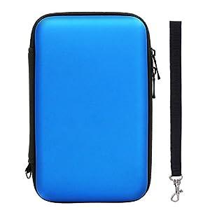 Harte EVA Wasserdichte Hülle Schützende Reise Tragetasche Tasche für New 3DS XL/ 3DS XL mit Tragegurt, Blau