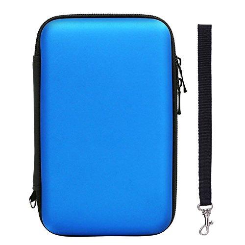 Blau Xl 3ds Tasche (Harte EVA Wasserdichte Hülle Schützende Reise Tragetasche Tasche für New 3DS XL/ 3DS XL mit Tragegurt, Blau)