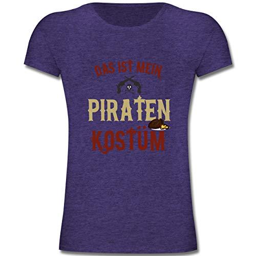 Karneval & Fasching Kinder - Das ist Mein Piraten Kostüm - 164 (14-15 Jahre) - Lila Meliert - F131K - Mädchen Kinder T-Shirt