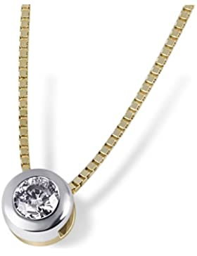 Goldmaid Damen-Halskette 585 Gelbgold 1 Brillant 0,10ct Kettenanhänger Schmuck