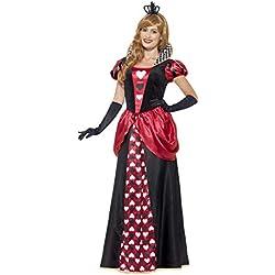 Smiffys Disfraz de Reina roja, Rojo, con Vestido y Corona