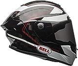 Bell Helme Pro Star Flex, Ratsche schwarz/weiß, Gr. M