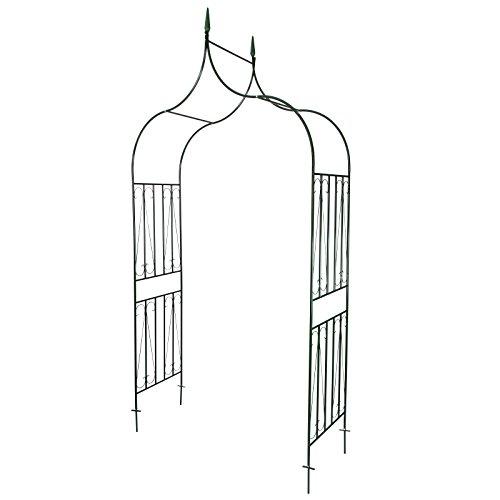 Eleganter Rosenbogen Kletter- und Rankhilfe inkl. Bodenverankerung, Standhöhe ca. 265cm
