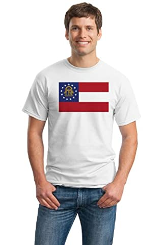 Georgia State Flag Tee Adult Unisex T-shirt / Georgia Fan Shirt - Atlanta Braves, Atlanta Falcons, Atlanta Hawks, Georgia Bulldogs