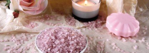 Warda Totes Meer Salz fein, Saunasalz, Duschsalz, Duft: Honig, 1kg Dose, für Sauna und Dusche, Peeling