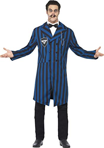 omez Halloween TV Film Adams Familie Kostüm Kleid Outfit - Blau, Large ()