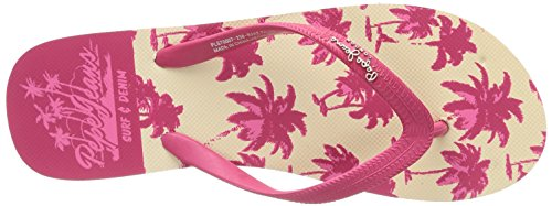 Pepe Jeans London RAKE PALMS Damen Zehentrenner Pink (238STRAWBERRY)