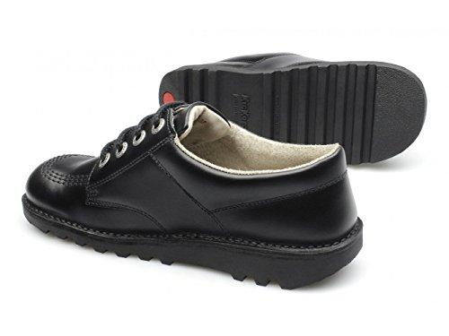 Kickers Kick M Core da uomo, in pelle con lacci scarpe Nero Black