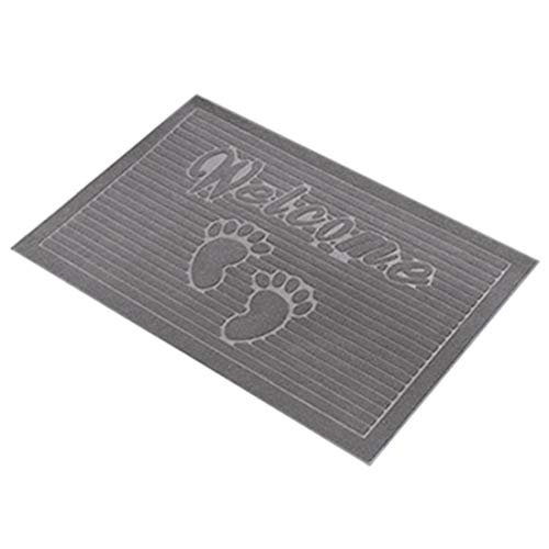 Surui Fußmatte Türmatten Schmutzmatte Rutschfest und Waschbar Fußabtreter für Innen und Aussen Grau 40 x 60 cm
