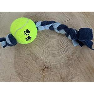 Hundespielzeug – Fleecespielzeug – Zerrspielzeug – mit Ball