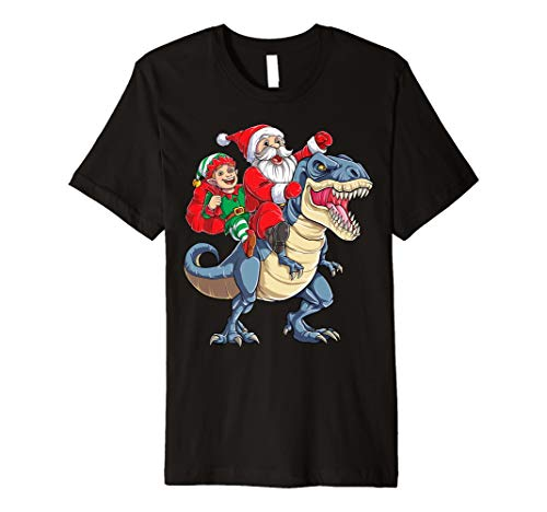 Elf Weihnachtsmann Dinosaurier T rex T shirt für Weihnachten
