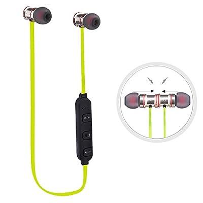 Écouteurs sans fil, sport, Écouteurs Sunvito Bluetooth 4.1, magnétiques, stéréo, intra-auriculaires, Mains libres avec microphone, design antidérapant et ergonomique