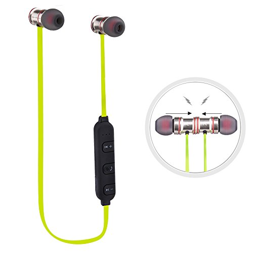 Sunvito Cuffie per lo Sport Bluetooth V4.1 Headset,Leggeri,Resistenti al Sudore,Auricolari Stereo per la Corsa, Auricolari Wireless con Microfono e Attrazione Magnetica