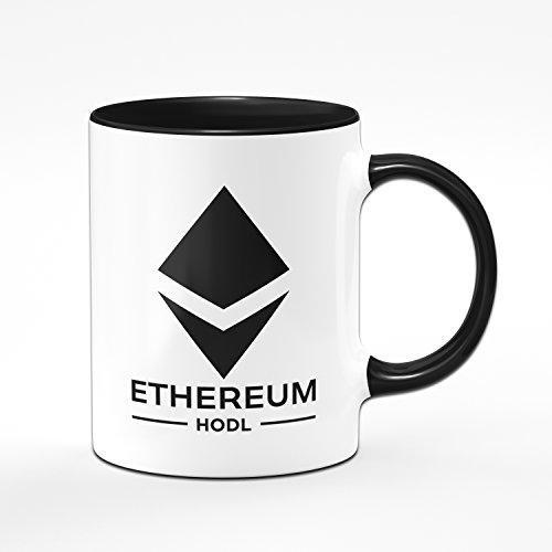 Tasse Etherum - ETH HODL - Kaffeetasse Blockchain - Kaffee