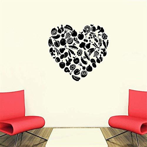 Wandtattoo Wohnzimmer Wandtattoo Schlafzimmer Küche Herz geformt Obst und Gemüse Kinderzimmer Wohnzimmer Home Decor