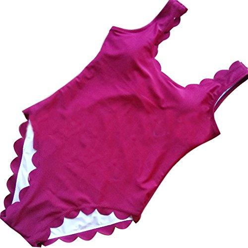 Minetom Donne Sexy Costumi Interi Retro Schiena Nuda Un Pezzo Costume Da Bagno Bagnarsi Spingere In Su Imbottito Bikini Spiaggia Borgogna