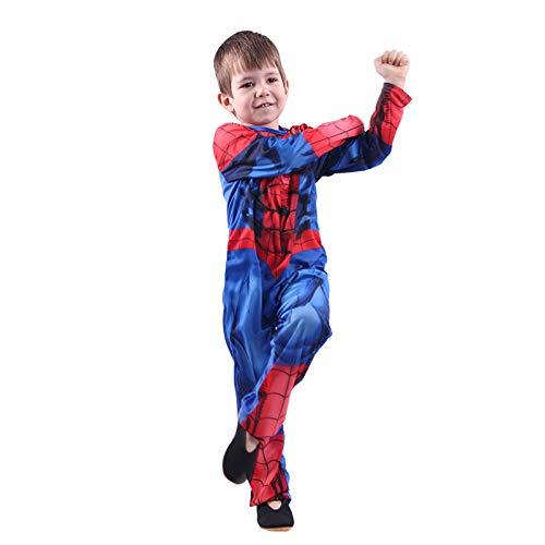 BLOIBFS Erwachsene Kind Expedition Spiderman Cosplay Kostüm 3D Print Spandex Halloween Kostüme Film Kostüm Requisiten,Kids-L