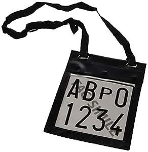 lampa 19907 support pour plaque d 39 immatriculation provisoire avec double poches. Black Bedroom Furniture Sets. Home Design Ideas
