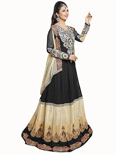 Manthan Latest Collection of Anarkali Suits in Semi Georgette Fabric & in attractive Black & Beige Color