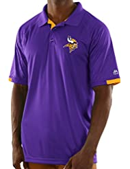 "Minnesota Vikings Majestic NFL ""Club Level"" Men's Short Sleeve Polo shirt Chemise"