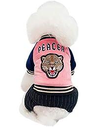 Ropa Perro,Gusspower Abrigos para Mascotas algodón Gruesa y Abrigada Rayas Ropa Otoño Invierno Cuatro piernas Ropa para Perros el hogar del Perrito