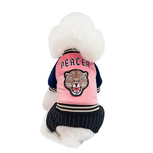Fenverk Katze Hund Mantel Jacke Haustier VorräTe Kleider Winter Bekleidung HüNdchen KostüM Schick Kleid Outfit Bezaubernd Passen Korsar Verkleidung Weihnachten Party(Rosa,XL)