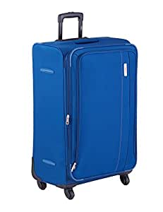 VIP Luxure 77 cm Blue Soft Sided Suitcase (STLUX80BLU)
