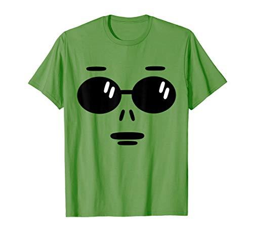 Nettes grünes Alien Gesicht Halloween Kostüm Geschenk Kinder T-Shirt (Cute Alien Kostüm Frauen)