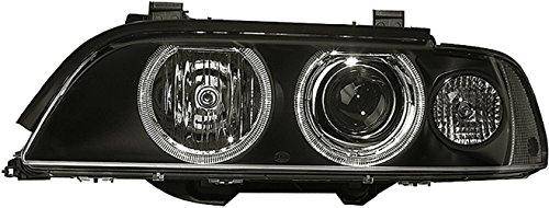 HELLA 1EL 008 052-581 Halogen Hauptscheinwerfer, Rechts, Ohne Kurvenlicht, mit Gasentladungslampe, mit Glühlampen, mit Stellmotor für LWR