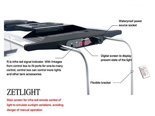 Aquarium LED Beleuchtung Zetlight AQUA Serie, moderne Aquariumbeleuchtung für Garnelen oder Nanobecken (ZA-1200 Süßwasser) - 5