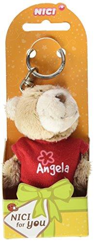 NICI n15775-Llavero Oso con Camiseta Angela, Rojo