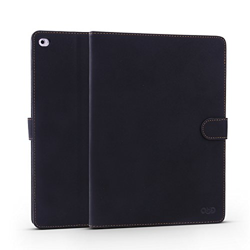 Qinda Retro Style Smart Flip Case cover for Apple iPad mini 1/2/3 Tablet (Retro Black)