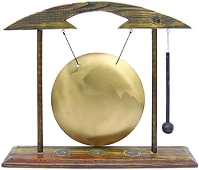 Gong de mesa grande, madera ottone. ZEN y FENG SHUI instrumento musical