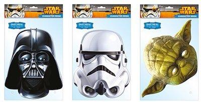 Star wars Maskenpack mit 3 Masken Darth Vader , Yoda , Storm Trooper