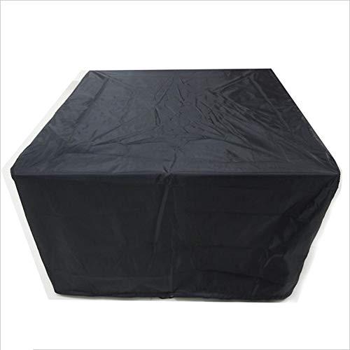 rtenmöbel Draussen Tabelle Und Stuhl Staub Abdeckung Sonnencreme Balkon Sofa Schützend Abdeckung Regenfest Schnee Schutz, 32 Größe (Color : Black, Size : 150x130x90cm) ()