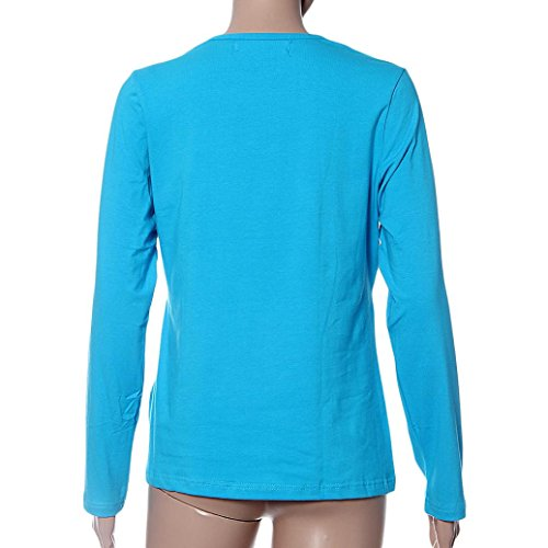 Maternity Clothes, OverDose Pregnant Nursing Tops Breastfeeding Long Sleeve T-Shirt Bleu