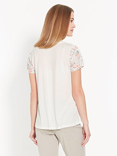 Secrets de mode - Tee-shirt bi-matière Imprime fleuri