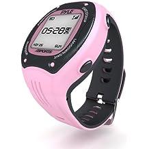 Pyle PSGP310PN - Reloj deportivo con GPS para mujer, color rosa, talla XXXL