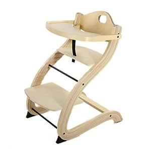 Baby Vivo Chaise Haute Pour Enfants Bois S-Design - Nature