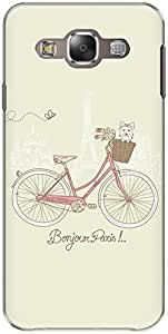 The Racoon Lean printed designer hard back mobile phone case cover for Samsung Galaxy E5. (Pale Bonjo)