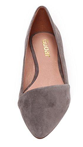 Guoar - Scarpe chiuse Donna Grigio