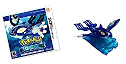 Pokemon Alpha Saphhire with Collectible Primal Kyogre Figurine - Nintendo 3DS