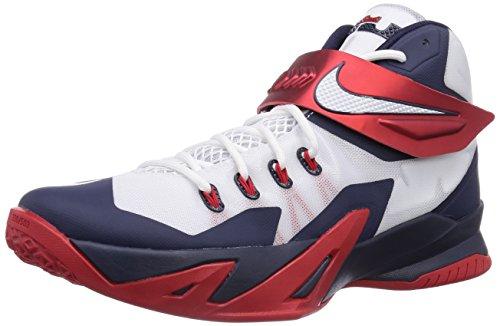 Nike Zoom Soldado Homens Viii Lebron James Tênis De Basquete Branco (branco / Rd Branco-obsdn-unvrsty)